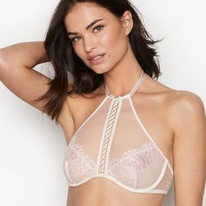 Ivory Irridescent High Neck Bralette